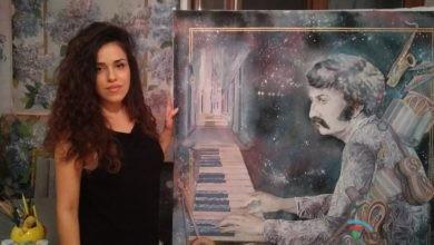 Photo of Gənc rəssam Vaqif Mustafazadənin portiretini təqdim etdi