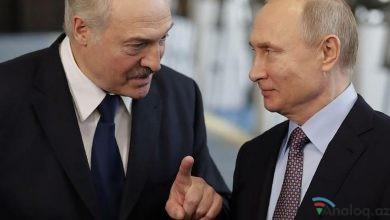 """Photo of Putin Lukaşenko ilə """"vidalaşır""""?"""
