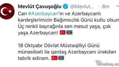 Photo of Çavuşoğlu Azərbaycanı bu görüntülərlə təbrik etdi