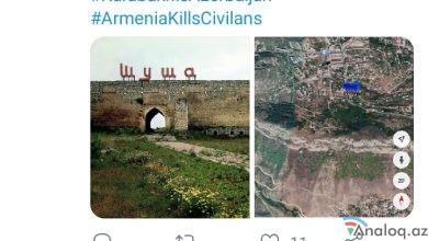 """Photo of Deputatın Şuşa paylaşımı: """"…Evimə dönürəm"""""""