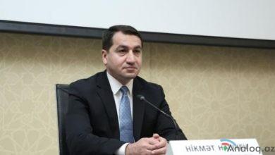 """Photo of Hikmət Hacıyev: """"Ermənistanın müharibə cinayətləri törətmiş rəhbərliyini bir daha xəbərdar edirik"""""""