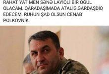 """Photo of Şəhid oğlu: """"Qardaşıma da atalıq edəcəm, ruhun şad olsun, cənab polkovnik!"""""""