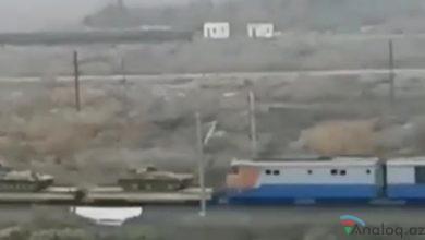 Photo of Ermənilərdən əldə olunan tanklar Bakıya gətirilir-VİDEO